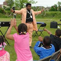 Performing at an Outdoor Birthday Party